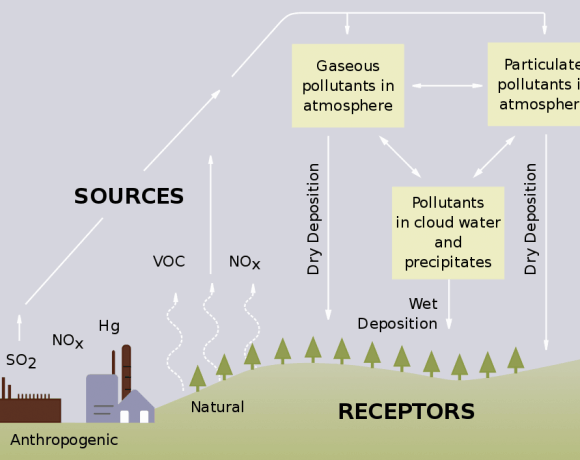 Origins of acid rain (Wikimedia Commons)