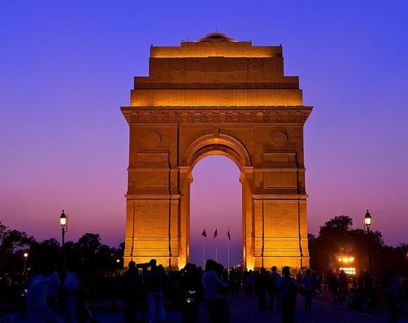 The India Gate, New Delhi by Larry Johnson