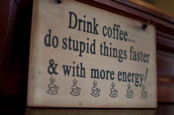 coffee quote chuckyeager