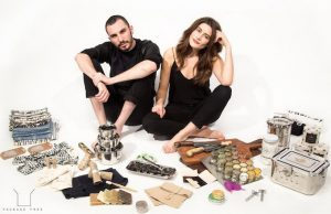 Lauren Signer and Daniel Silverstein, among the the products they sell at Package Free