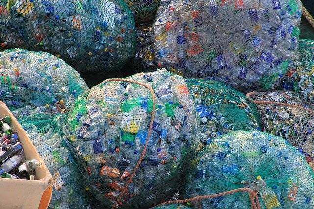 Bundle of plastic waste