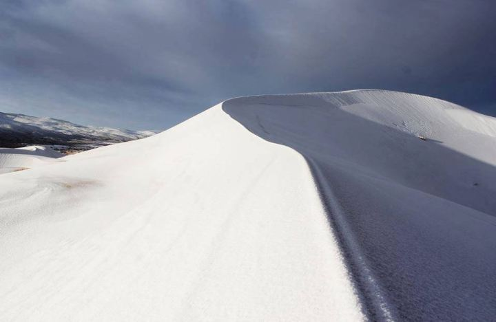 Strange Thing Happened, Snow Fell On Sahara Desert