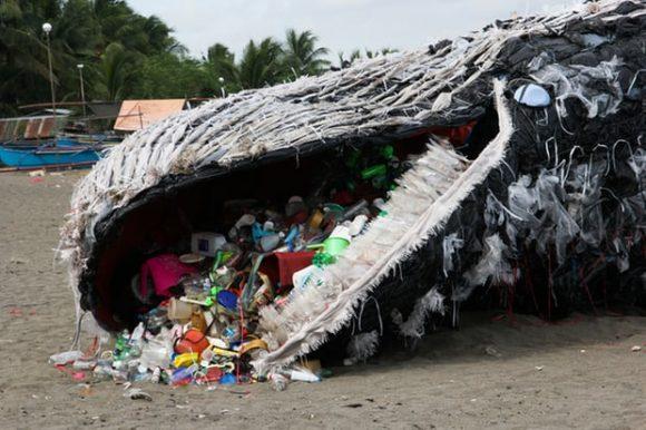 Plastic Whale Figure (Greenpeace)