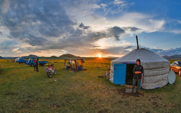 Sunset Mongolia Nomad Modernization Bogatto Meadow