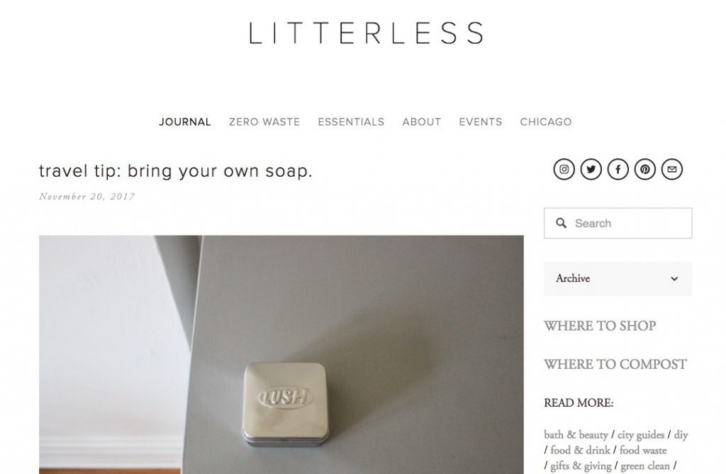 Litterless blog by Celia Ristow