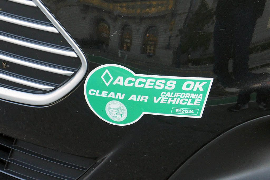Green sticker for low emission cars
