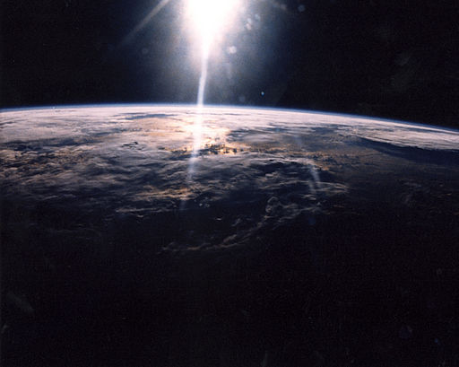 Sunlight hits Earth