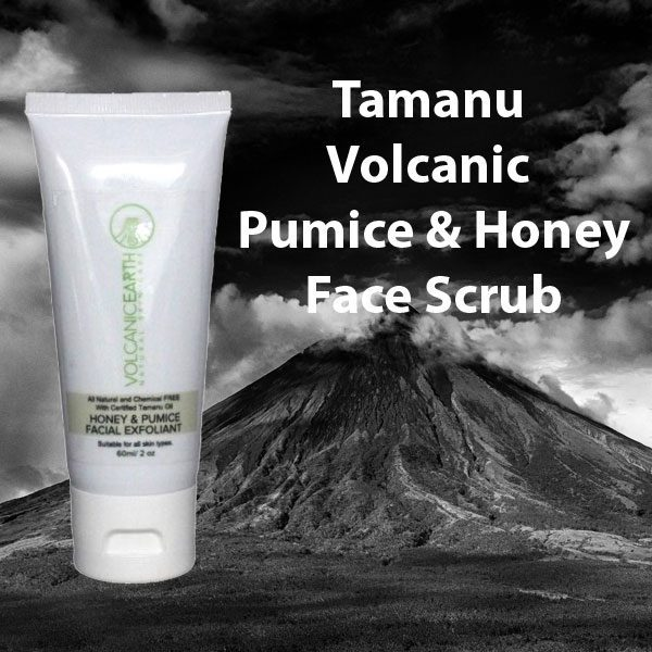 Tamanu Volcanic Pumice and Honey Face Scrub and Exfoliant