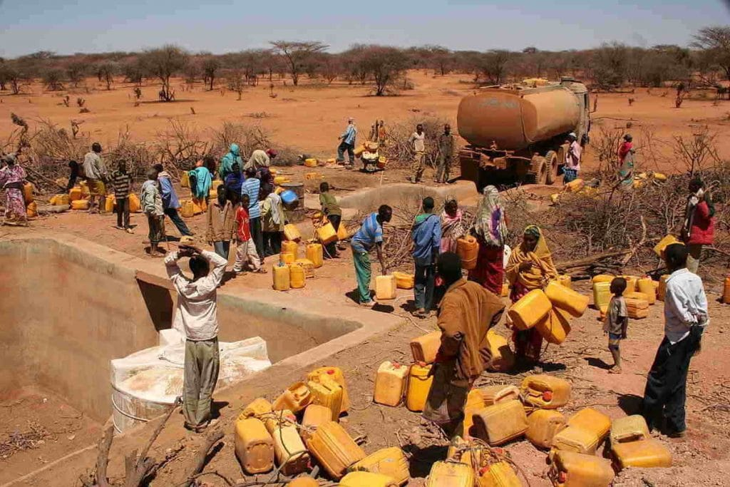 water distribution in africa