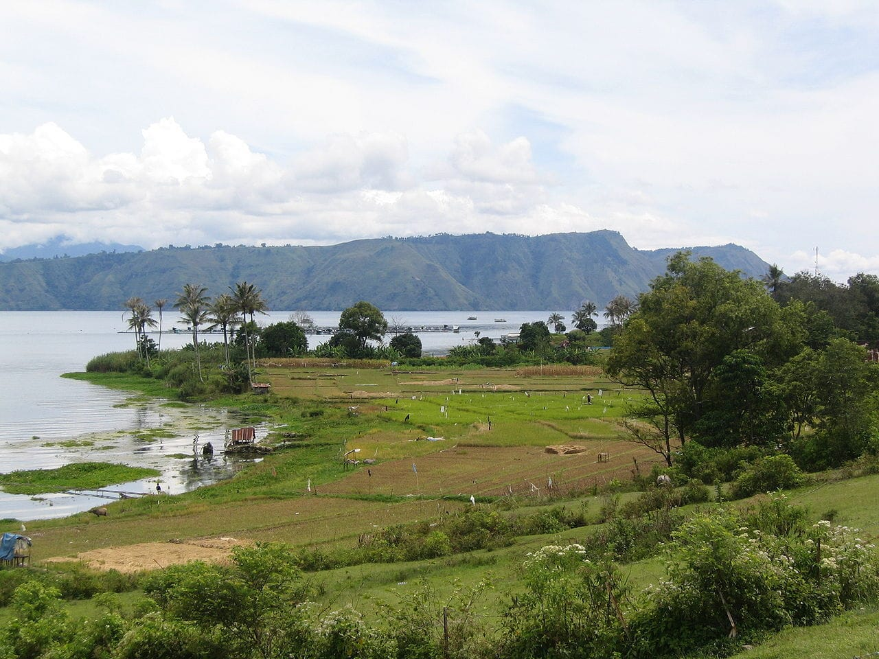 Samosir Island in Lake Toba by Tbachner Wikimedia Commons