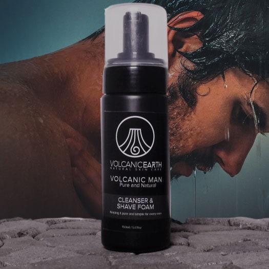 Tamanu Volcanic Man Cleanser & Shave Foam