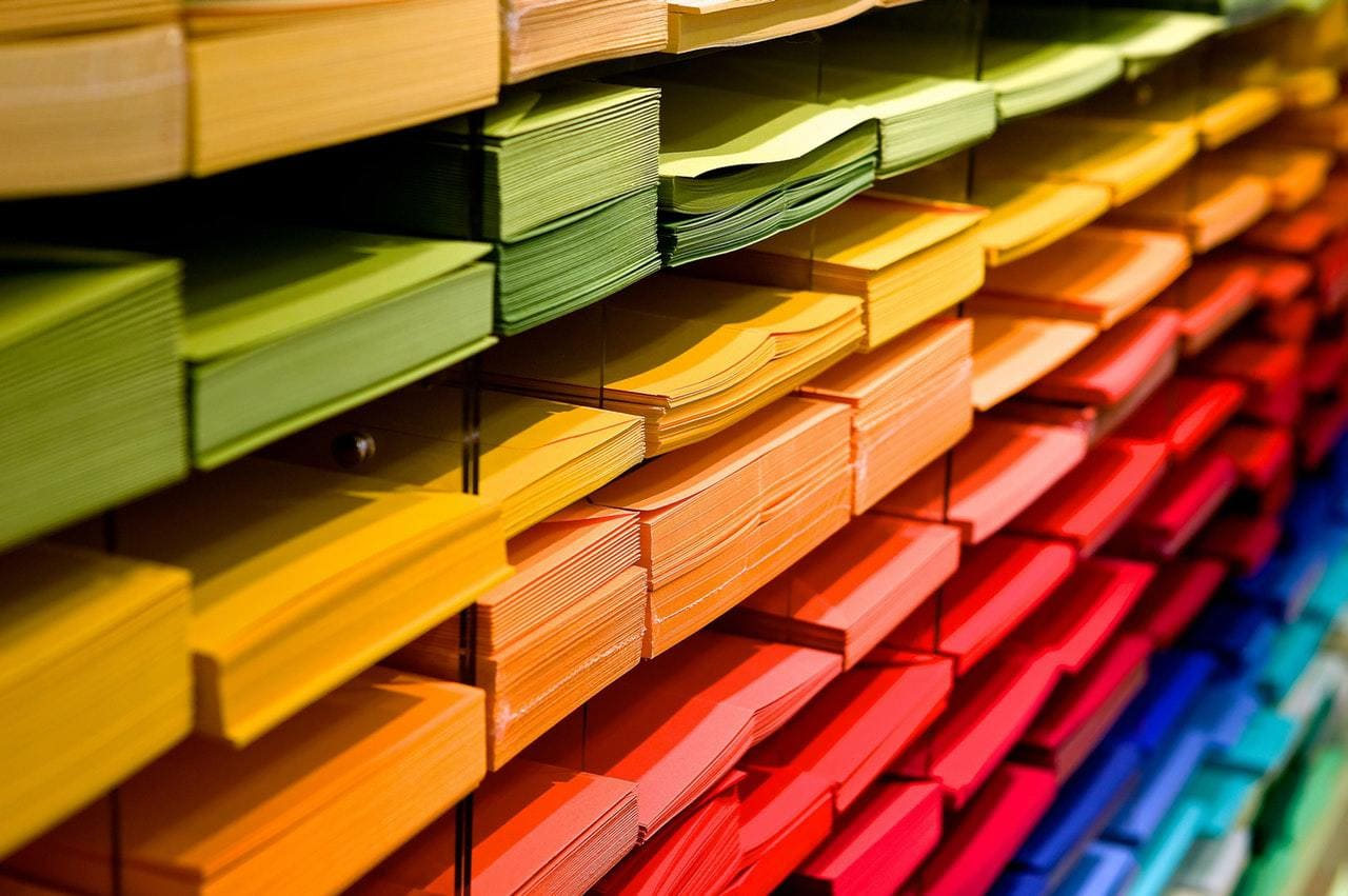 bright colored paper