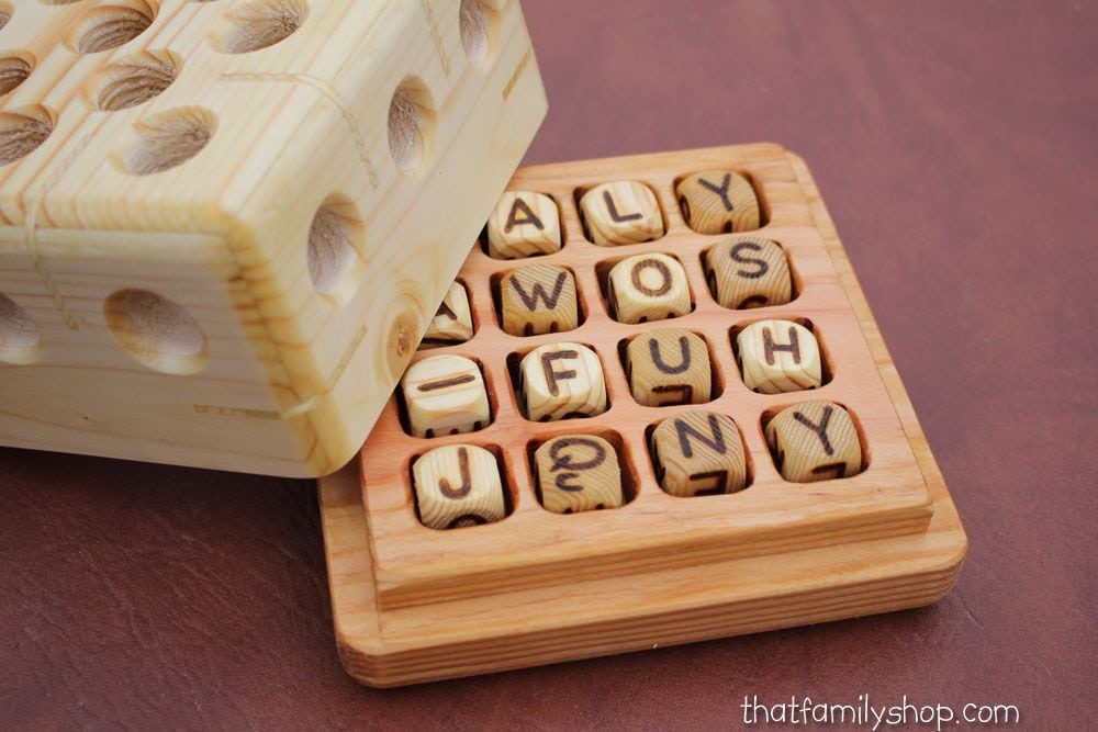 wooden boggle by That Family Shop