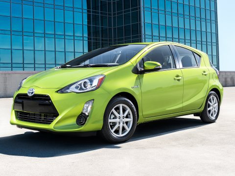 Toyota Prius lime green 2017