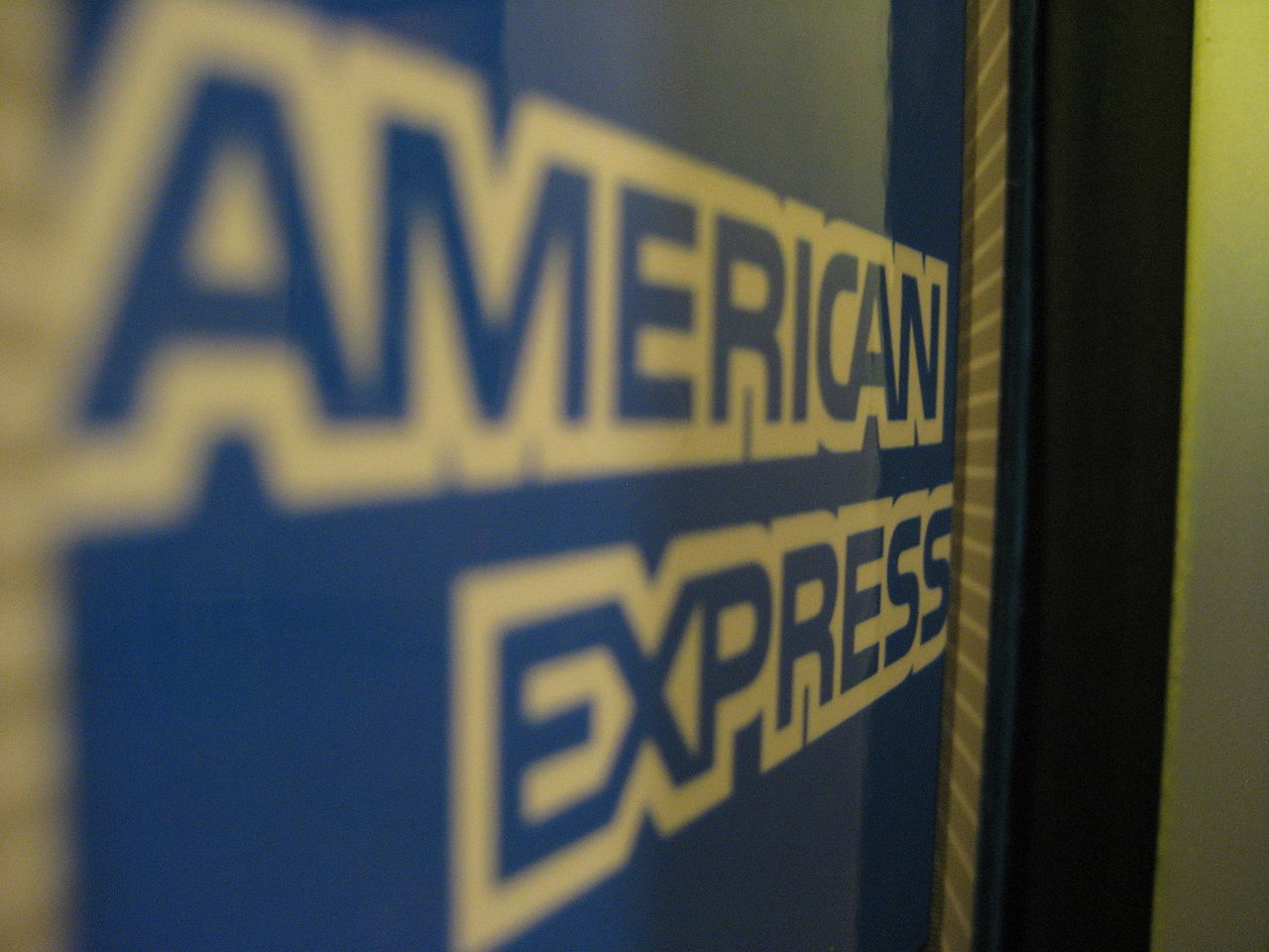 American Express logo by Marcus Quigmire wikimedia commons
