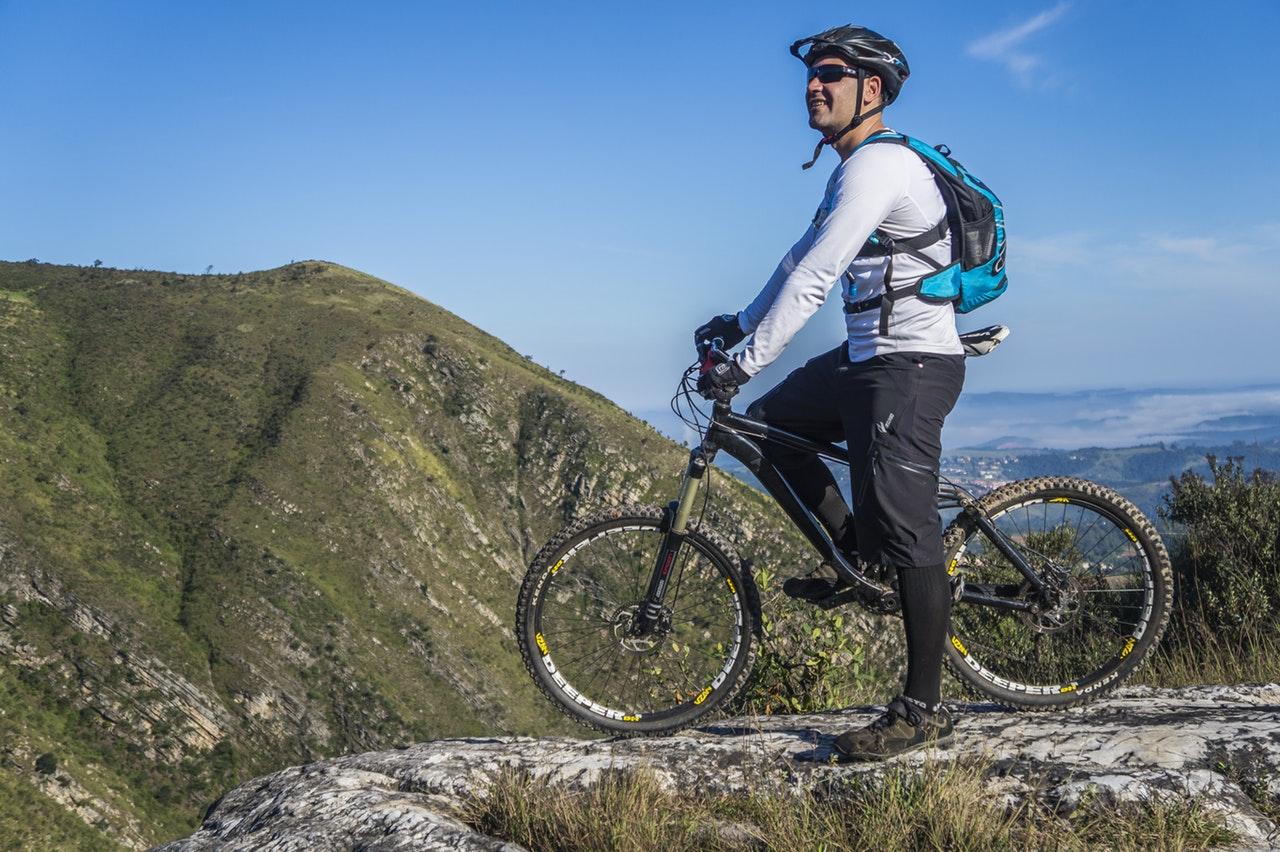 when you want to go mountain biking, don't drive but ride