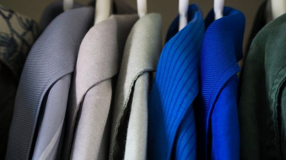 Blue Clothes Closet Wardrobe Fashion Clothing