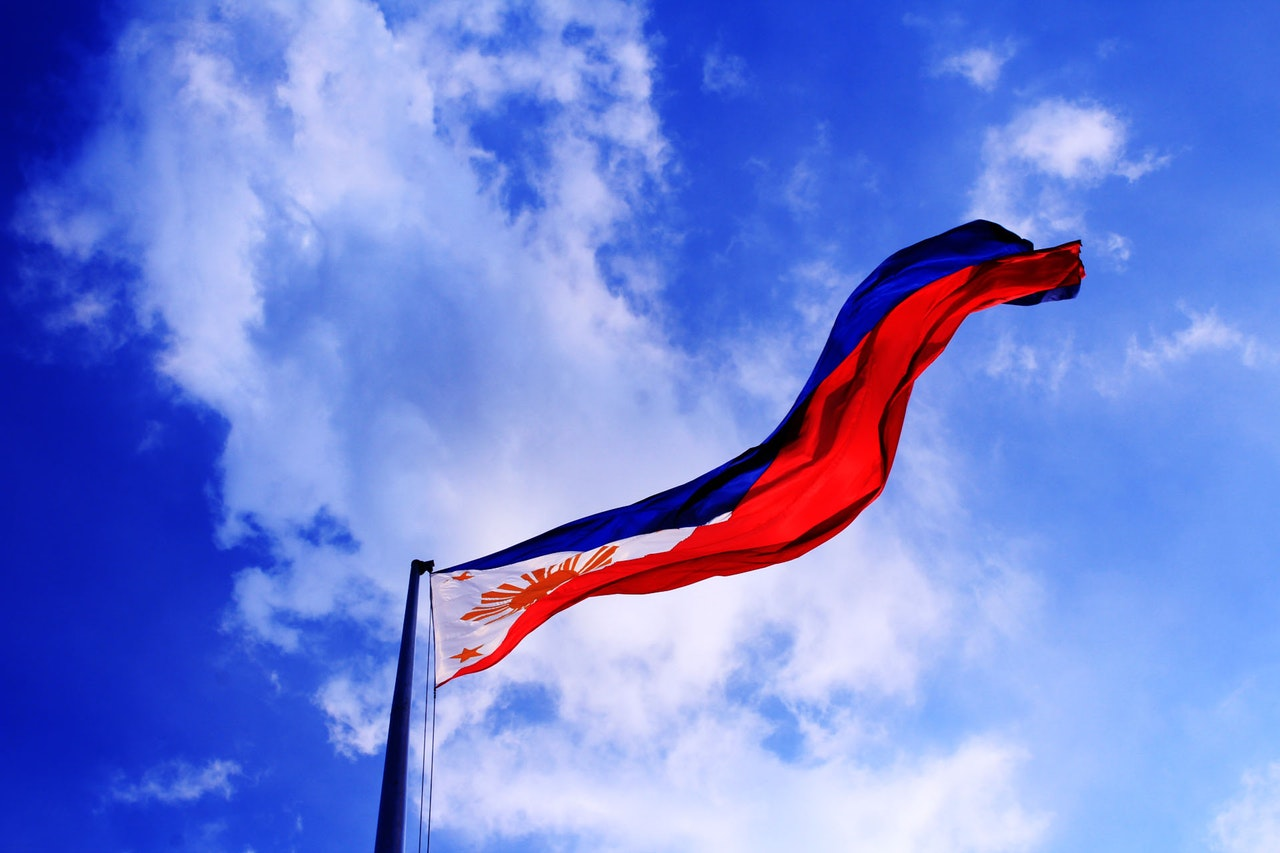The flag of Philippines