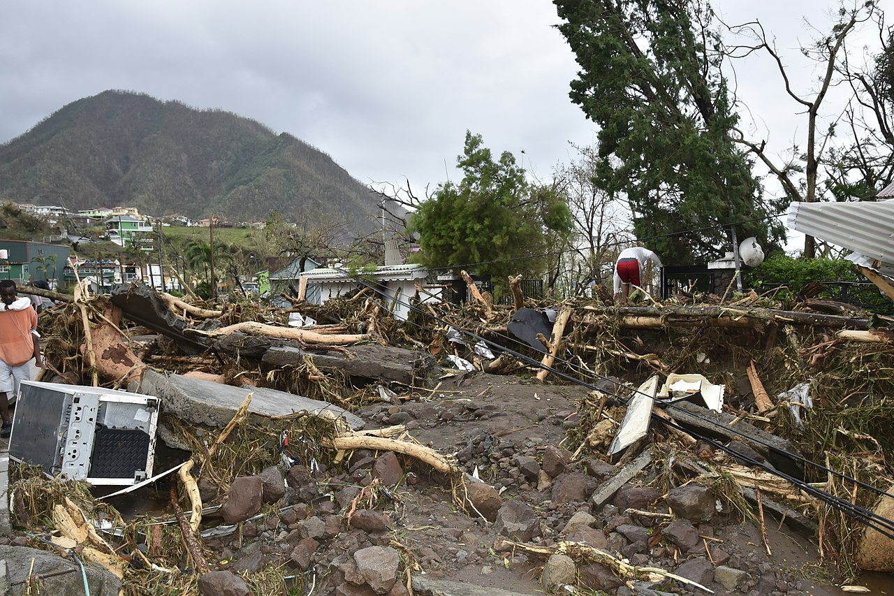 devastation caused by Hurricane Maria in Dominica