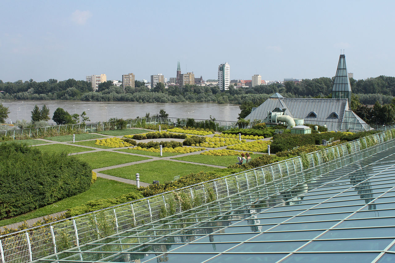 University of Warsaw Library Gardens by Cruiser Wikimedia Commons