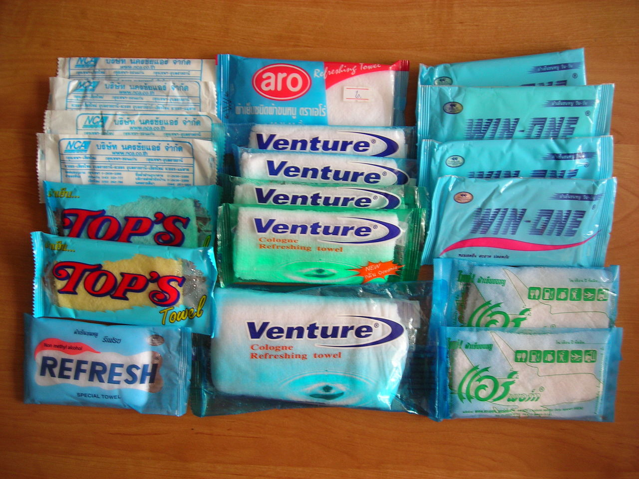 Thailand wet wipes by Mattes Wikimedia Commons