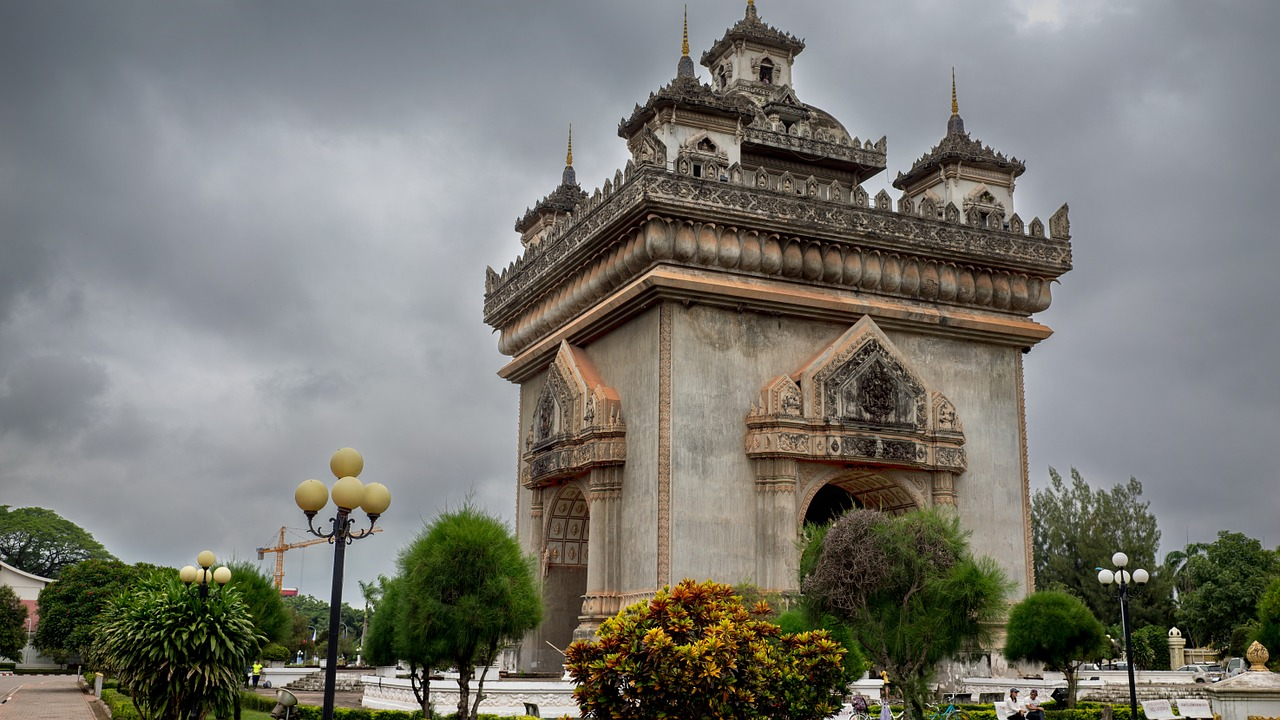 Arc de Triomphe with Laotian accent in Vientiane