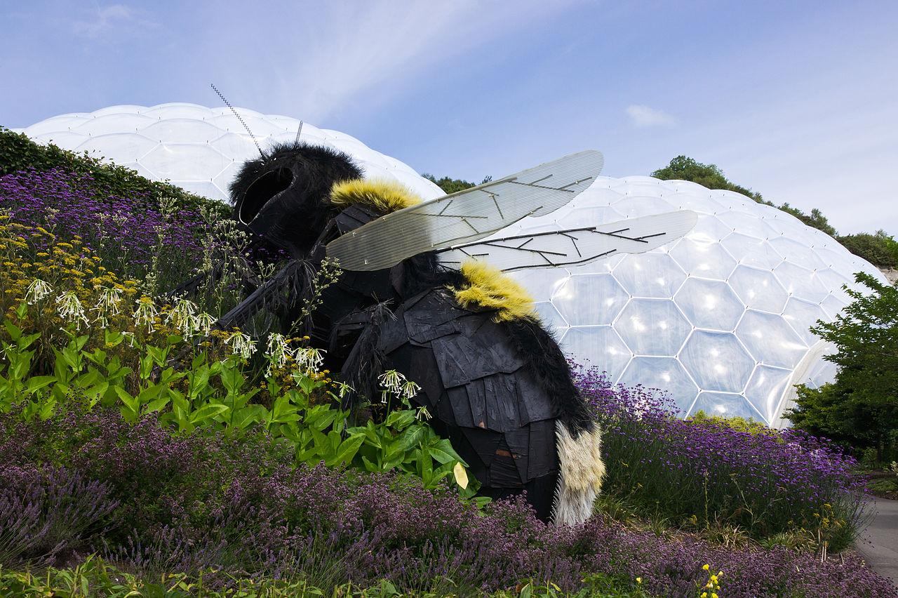 Giant bee in Eden Project