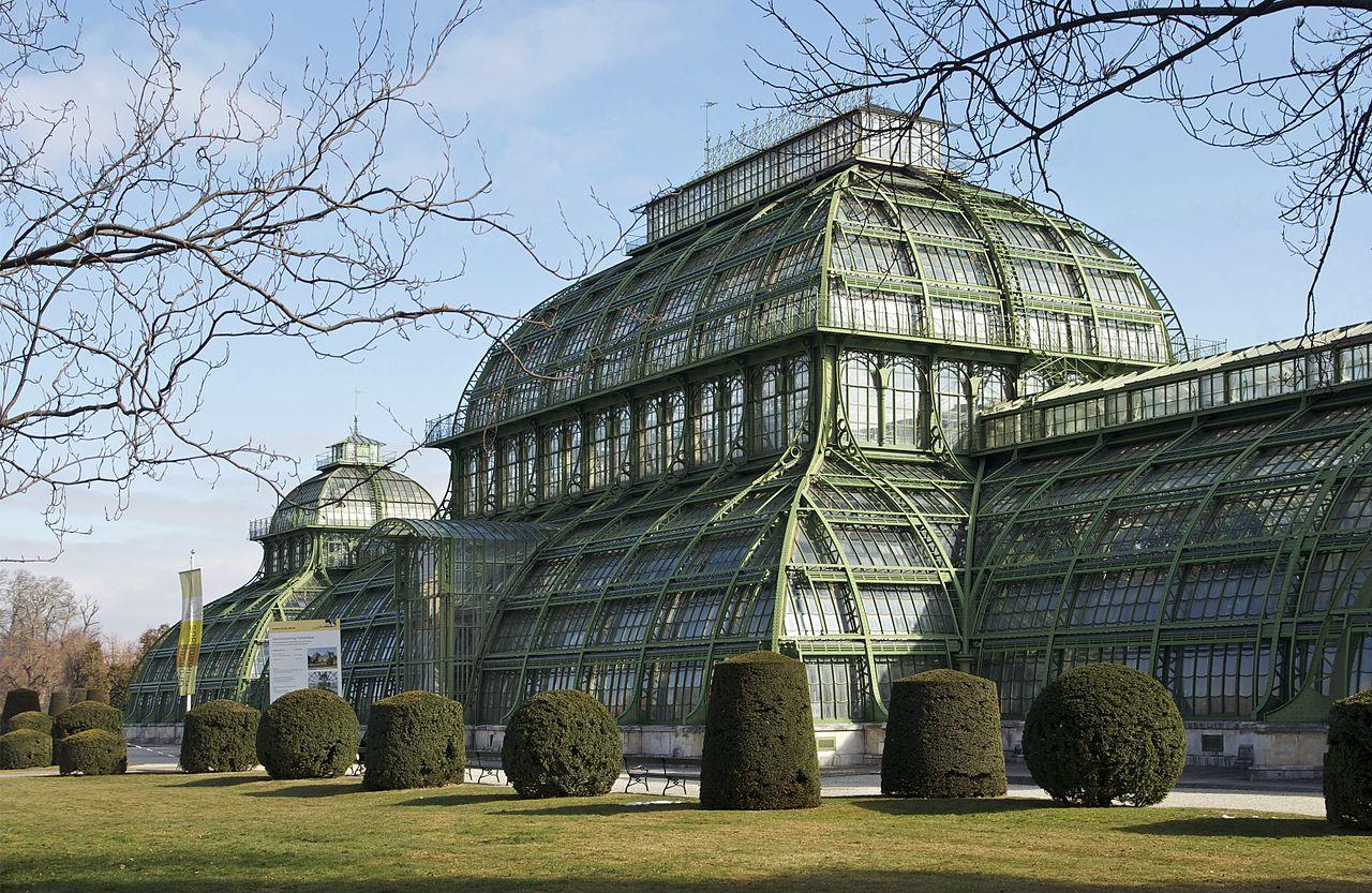Palmenhaus (palm house) in Schönbrunn Vienna