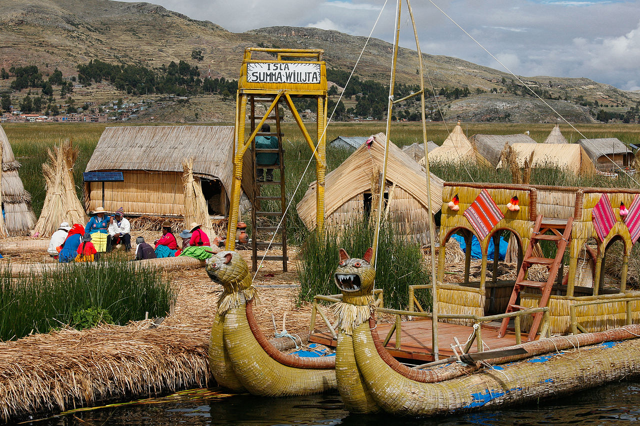 Uros Islands, Peru by Alex Proimos Wikimedia Commons