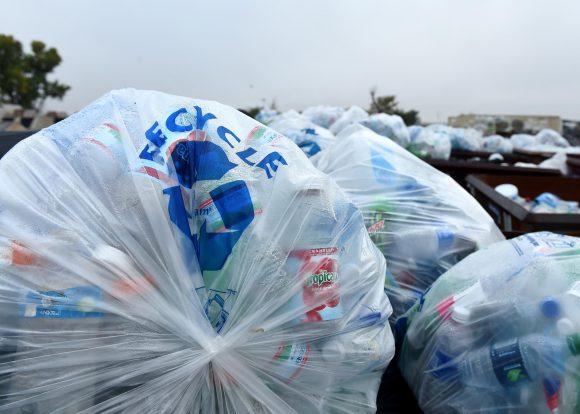 Water bottle in plastic bag (Altus AFB)