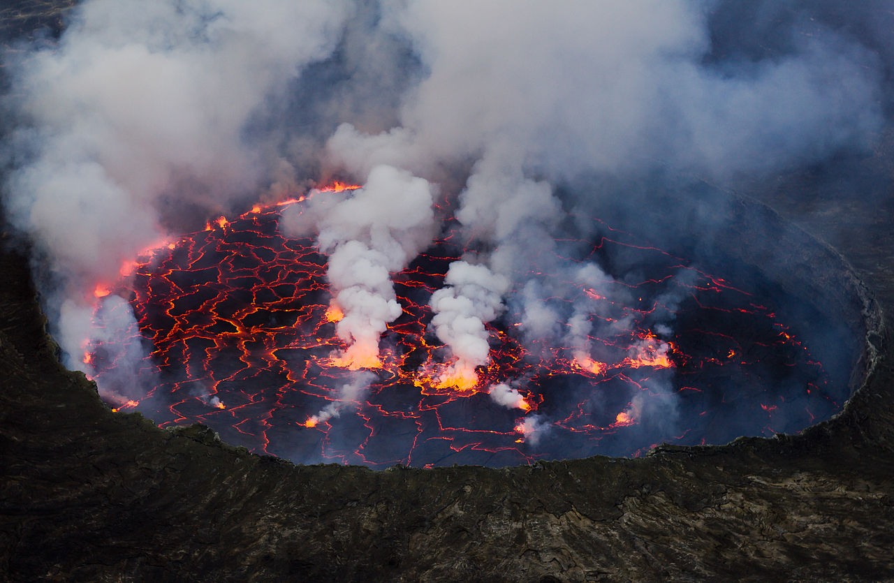 Lava lake of Nyiragongo