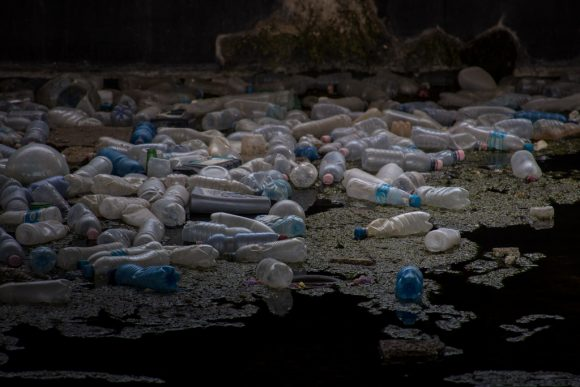 Plastic bottle soup by Marcel Oosterwijk