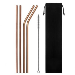 Rose-Gold-Standard-Reusable-Metal-Straw