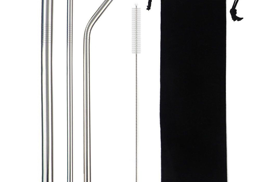 Silver Smoothie Reusable Metal Straws