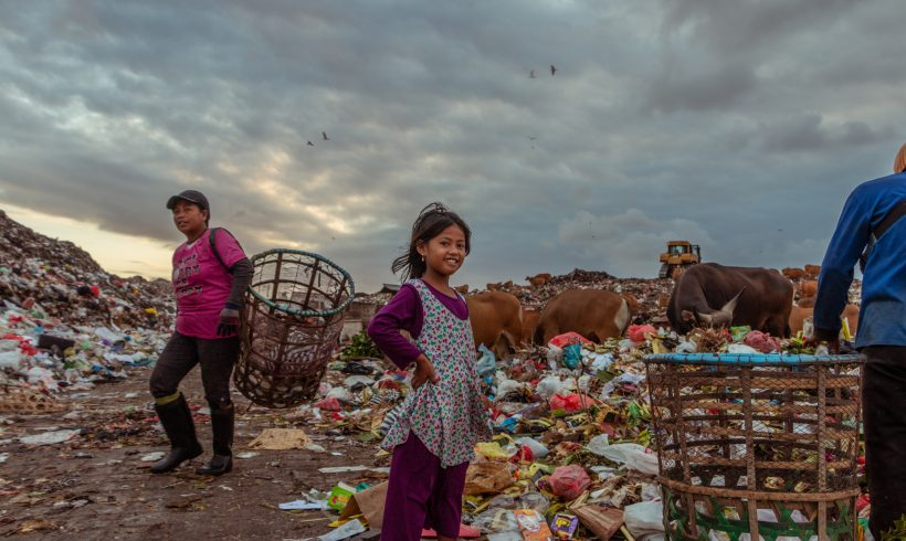 Students In Coronavirus-Struck Indonesia Collect Trash For Internet