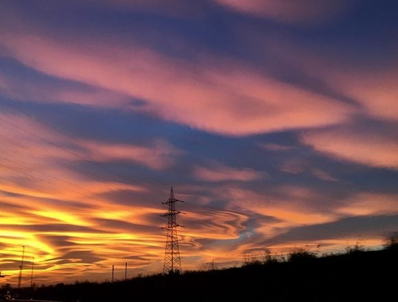 Beautiful sky in Milan but sadly it's caused by air pollution. Work by Irene Grassi Wikimedia Commons