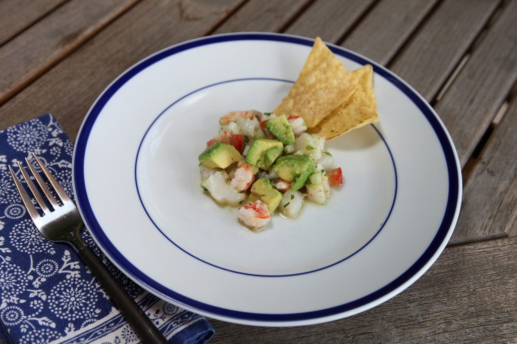 Sea Scallop Dish by California Avocados
