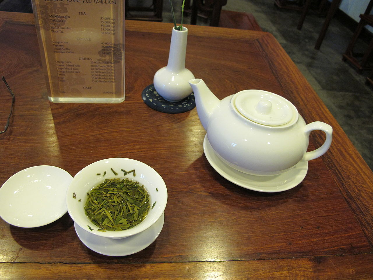 Longjing tea by Gary Stevens Wikimedia Commons