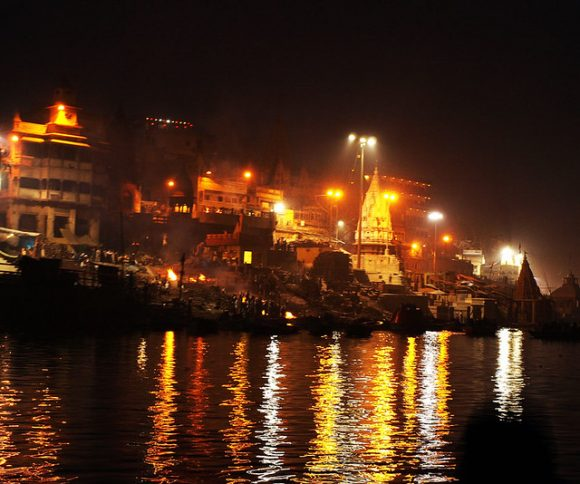 Cremation in Ganga by AinisR