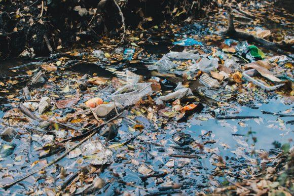 plastic waste river