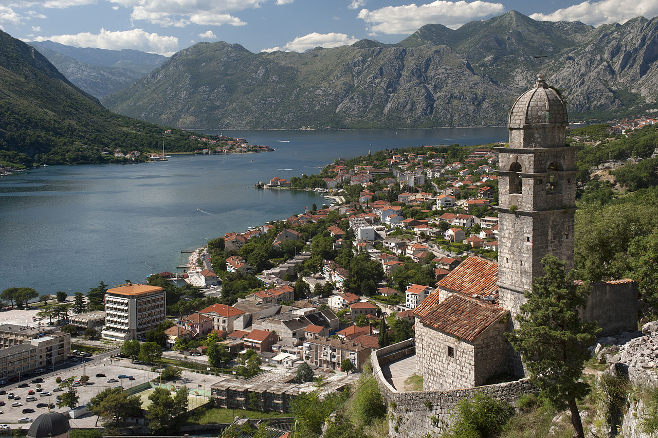 Kotor Bay Montenegro by User:Ggia Wikimedia Commons