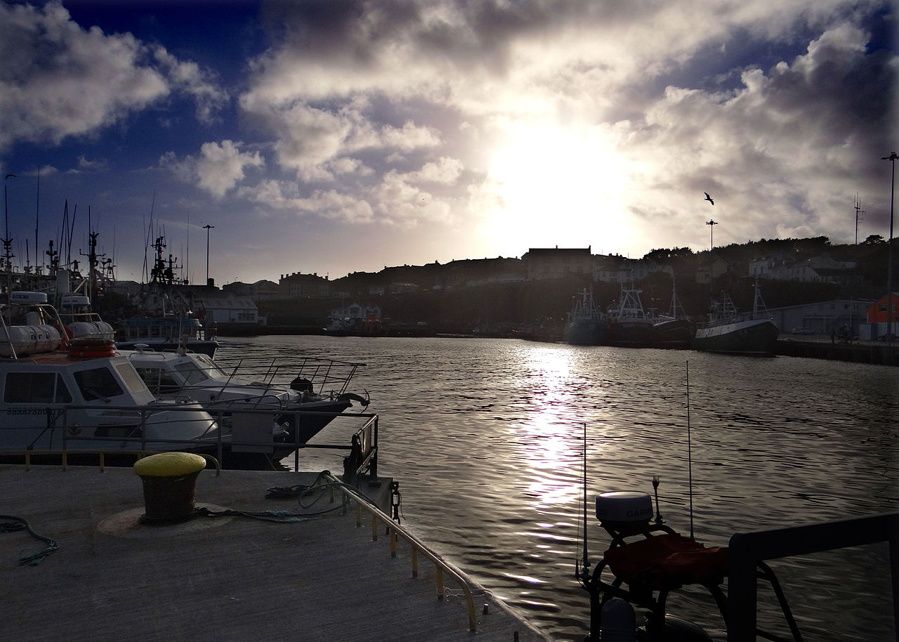 Dunmore East Harbour Waterford by John Stephen Reid Wikimedia Commons