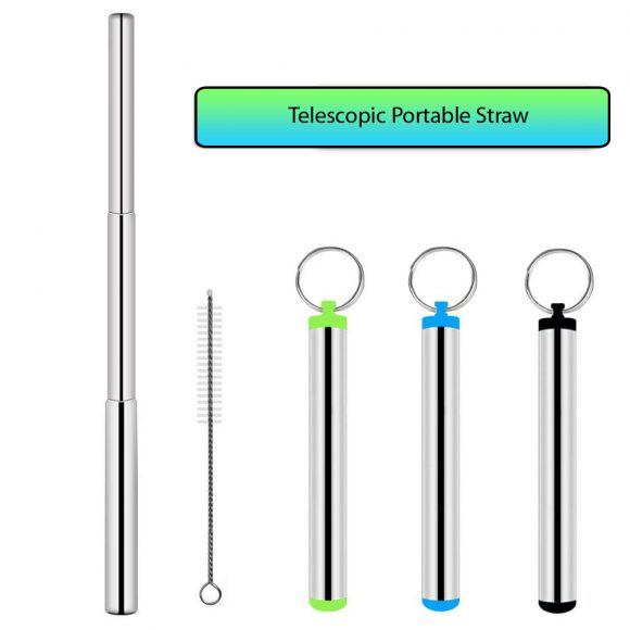 Telescopic Straws - Portable Drinking Straws for Travelling