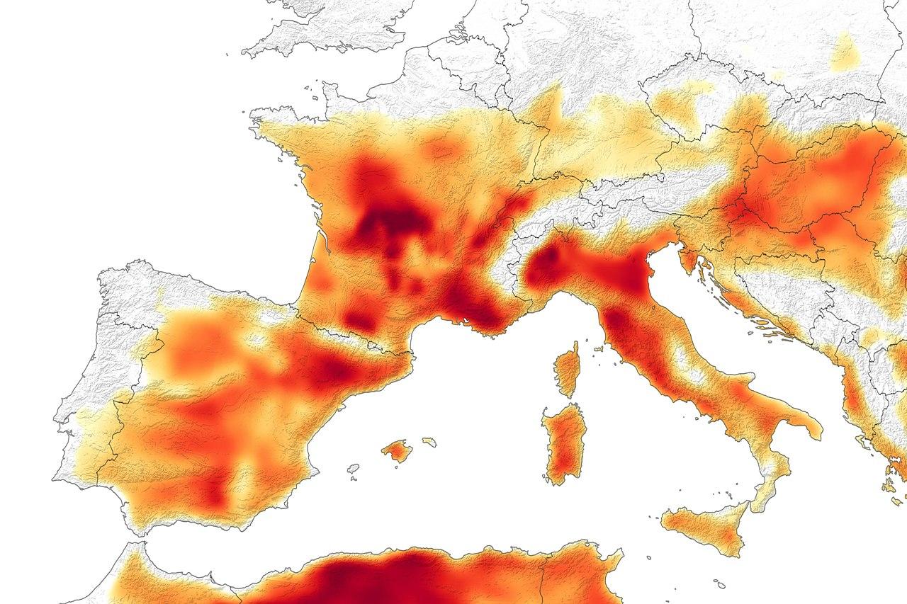 temperature prediction from NASA taken in June 2019