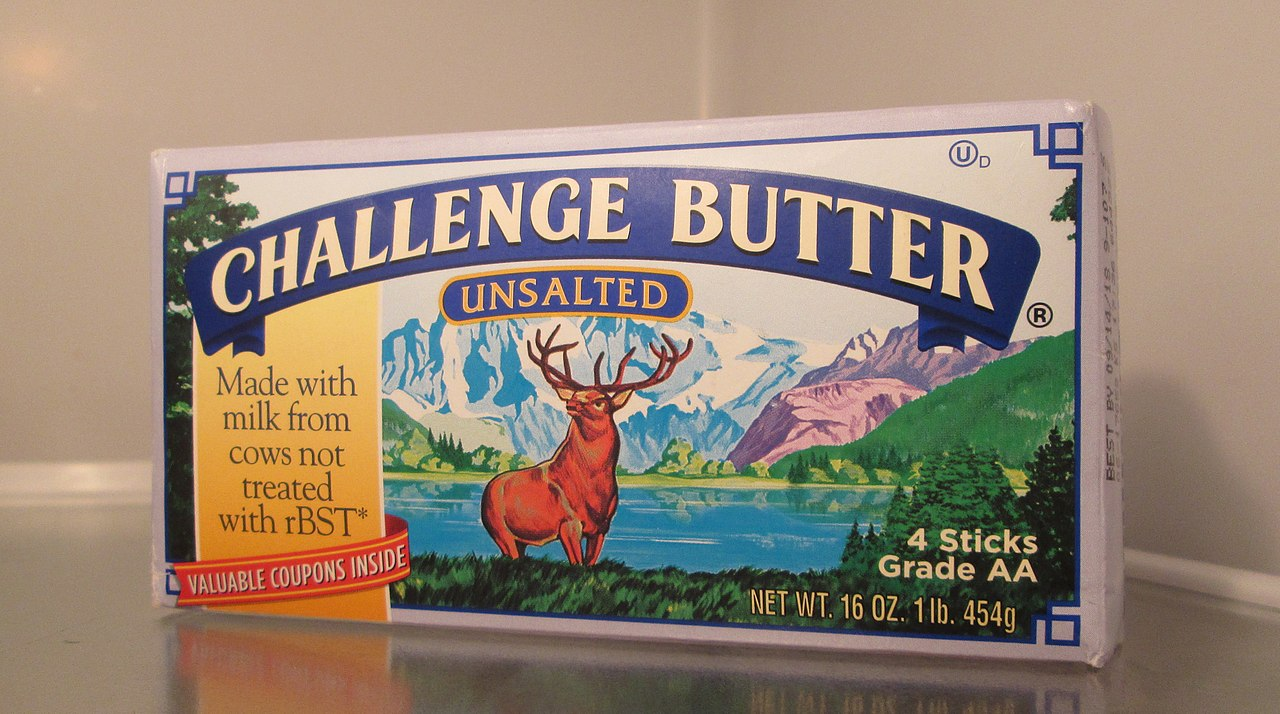 traditional, conventional, dairy butter. photo by Ncsr11 Wikimedia Commons
