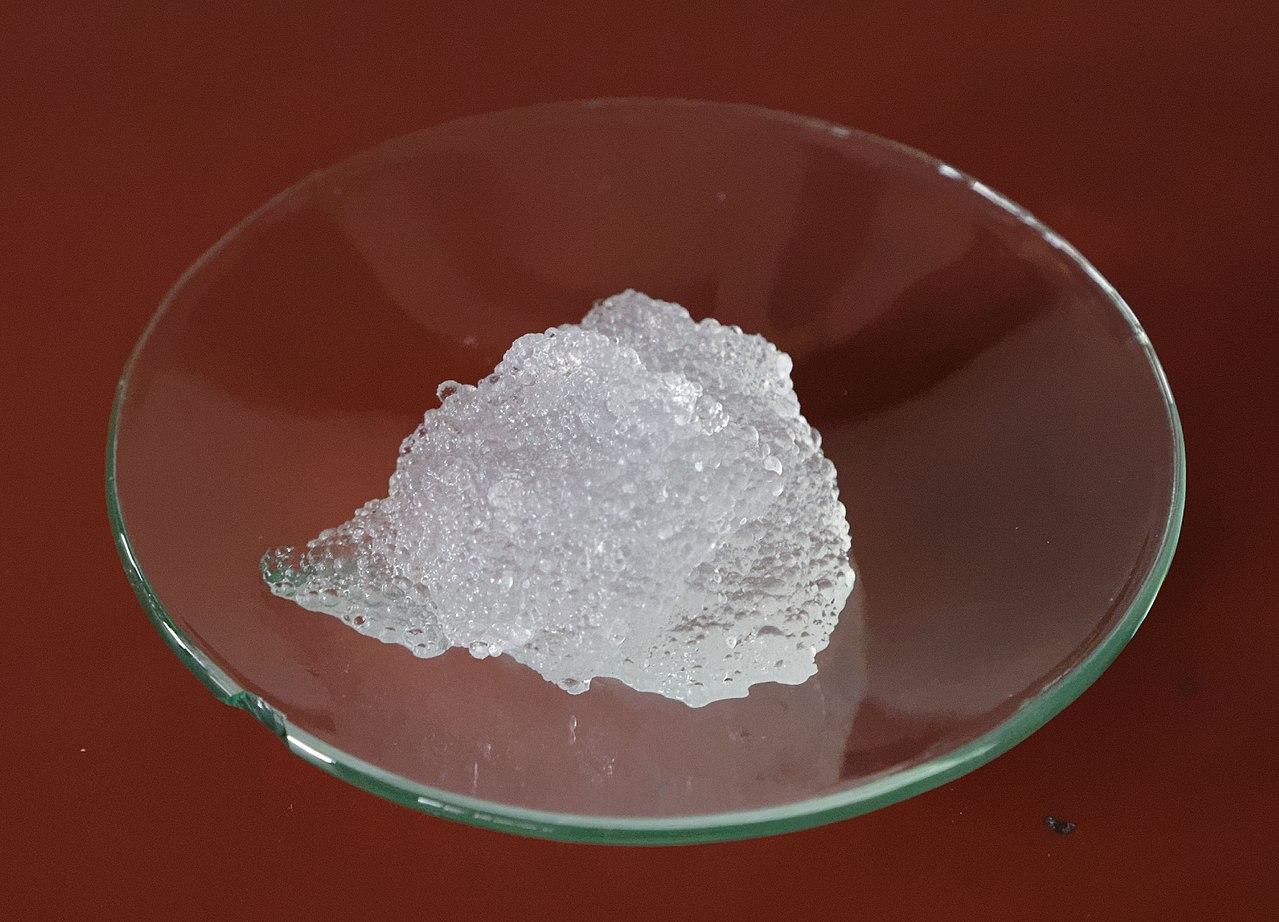 a type of hydrogel called superabsorber hydrogel. Work by Petra Klawikowski wikimedia commons