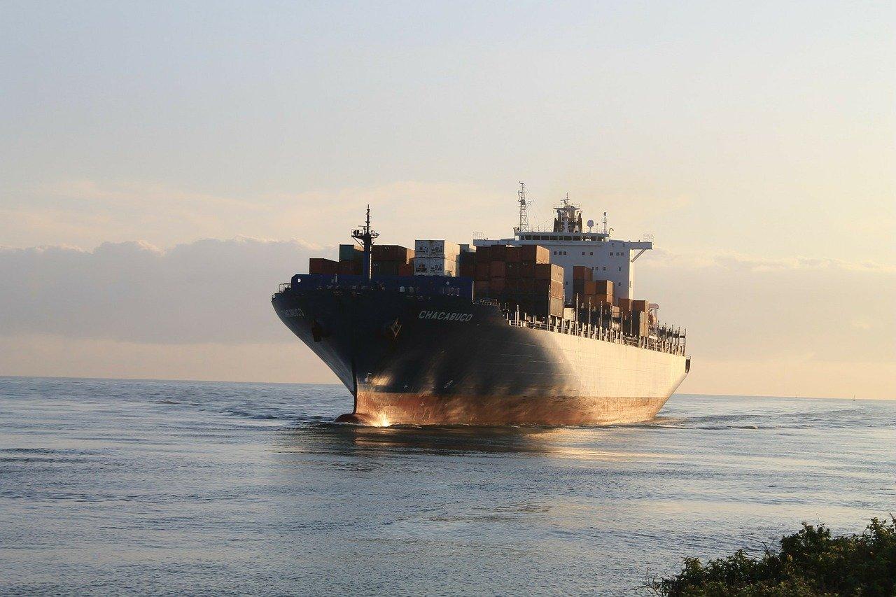 a cargo ship freighter