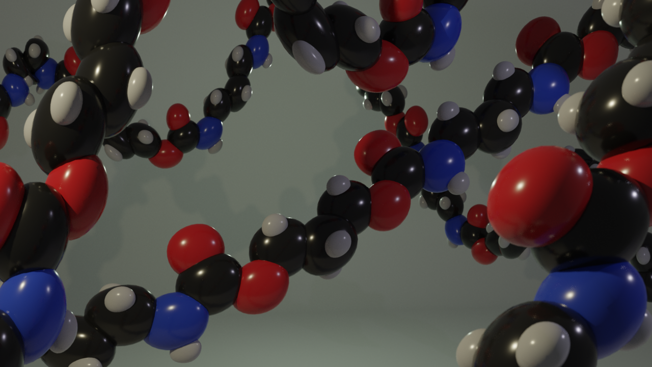 polymer chain. Picture by SPT Paul Topham Wikimedia Commons