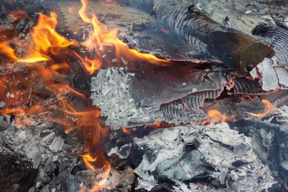 burning plastic