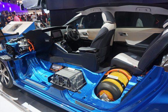 Toyota Mirai Fuel Cell cutaway